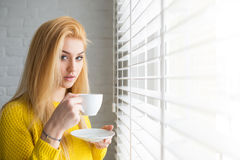 Morning cup of coffee Royalty Free Stock Image