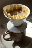 Morning Cup of Pour Over Coffee Royalty Free Stock Photography