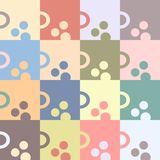 Morning cup of tea or coffee. Seamless geometric pattern. Tesselated background. Colored all over print. Escher style royalty free illustration