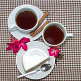 Morning cups of tea Royalty Free Stock Photos