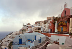Morning in the cyclades village Stock Photos