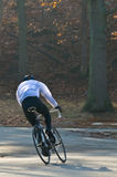 Morning cyclist racing Stock Photo