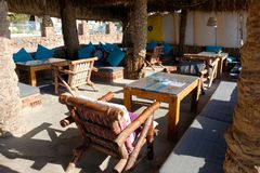 Dahab beach on Red Sea, Sinai royalty free stock photos