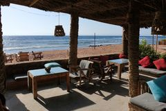 Dahab beach on Red Sea, Sinai stock photos