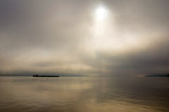 Morning on the Danube river Royalty Free Stock Photography