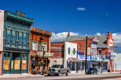 Morning day at authentic street in style wild west Royalty Free Stock Photography