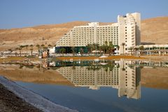 Morning on the Dead Sea in Neve Zohar stock photos