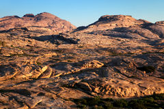 Morning in Desert mountains Royalty Free Stock Photos