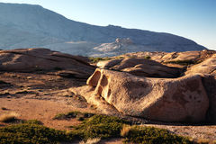 Morning in Desert mountains Stock Photography