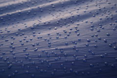 Morning dew on tent Stock Image