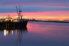 Morning Dock, Steveston, British Columbia Stock Photography