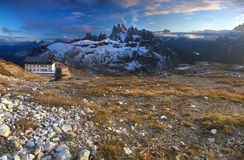Morning dolomites landscape Stock Photos