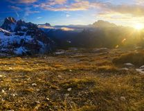 Morning dolomites landscape Royalty Free Stock Image