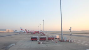 Morning Donmuang airport in Thailand. Fly to the sky, international travelling stock image