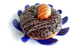 Morning Donut Royalty Free Stock Photography