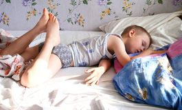 Morning dream of the child Royalty Free Stock Images