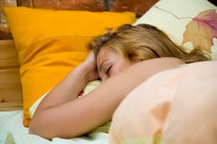Morning dream of the girl Royalty Free Stock Photos