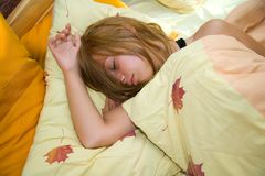 Morning dream of the girl Royalty Free Stock Photo
