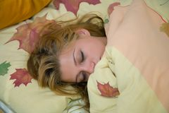 Morning dream of the girl Stock Image