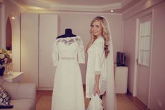 Morning dress bride Royalty Free Stock Photos