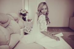 Morning dress bride Stock Photos