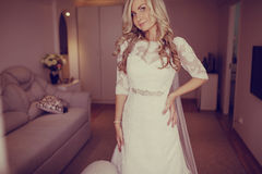 Morning dress bride Royalty Free Stock Images
