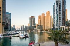 Morning in Dubai Marina Royalty Free Stock Photography