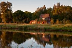 Morning on Dutch farm Royalty Free Stock Photo