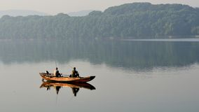 The morning of East Lake - boat stock photos