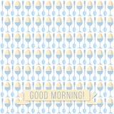 Morning egg pattern Royalty Free Stock Photos