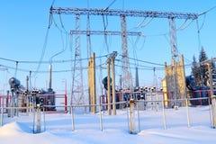 Morning on electro substation Royalty Free Stock Image