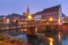 Morning embankment in Strasbourg, Alsace Stock Images