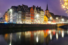 Morning embankment in Strasbourg, Alsace Royalty Free Stock Photography