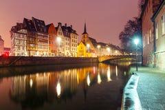 Morning embankment in Strasbourg, Alsace Stock Photo