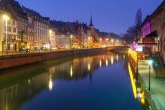 Morning embankment in Strasbourg, Alsace Stock Photos
