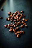 Morning Espresso. Espresso surrounded by coffee beans Stock Images