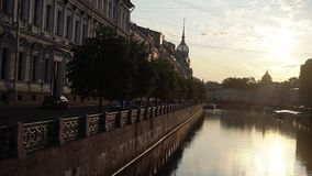Morning in european city stock footage