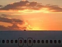 Morning or evening flight Royalty Free Stock Photos