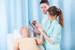 Morning examination in hospital Stock Image