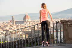 Morning exercise in Florence royalty free stock image