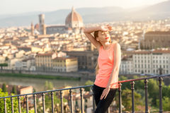 Morning exercise in Florence royalty free stock photo