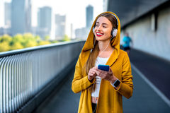 Morning exercise in megacity Stock Photography