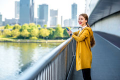 Morning exercise in megacity Royalty Free Stock Photography