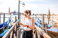 Morning exercise in Venice royalty free stock photo