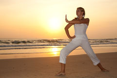 Morning exercises Stock Photography