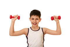 Morning exercises of a kid Royalty Free Stock Photos