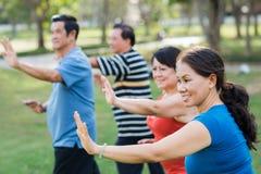 Morning exercises Stock Photo