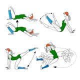 Morning exercises, vector illustration stock illustration