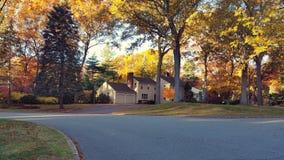 Morning Fall Neighborhood stock image