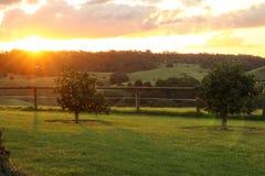 Morning Farm Scene Royalty Free Stock Photos